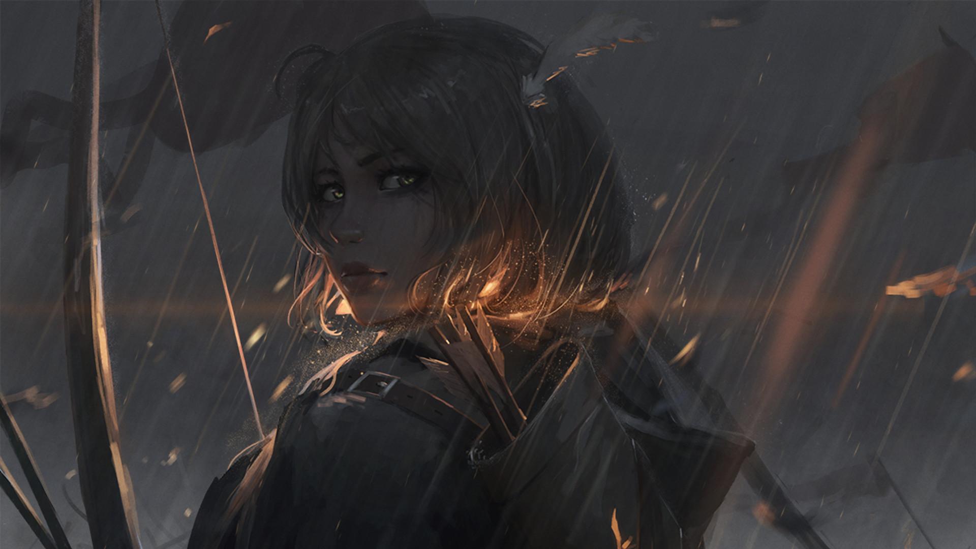 warrior, Artwork, Fantasy art, Bow and arrow