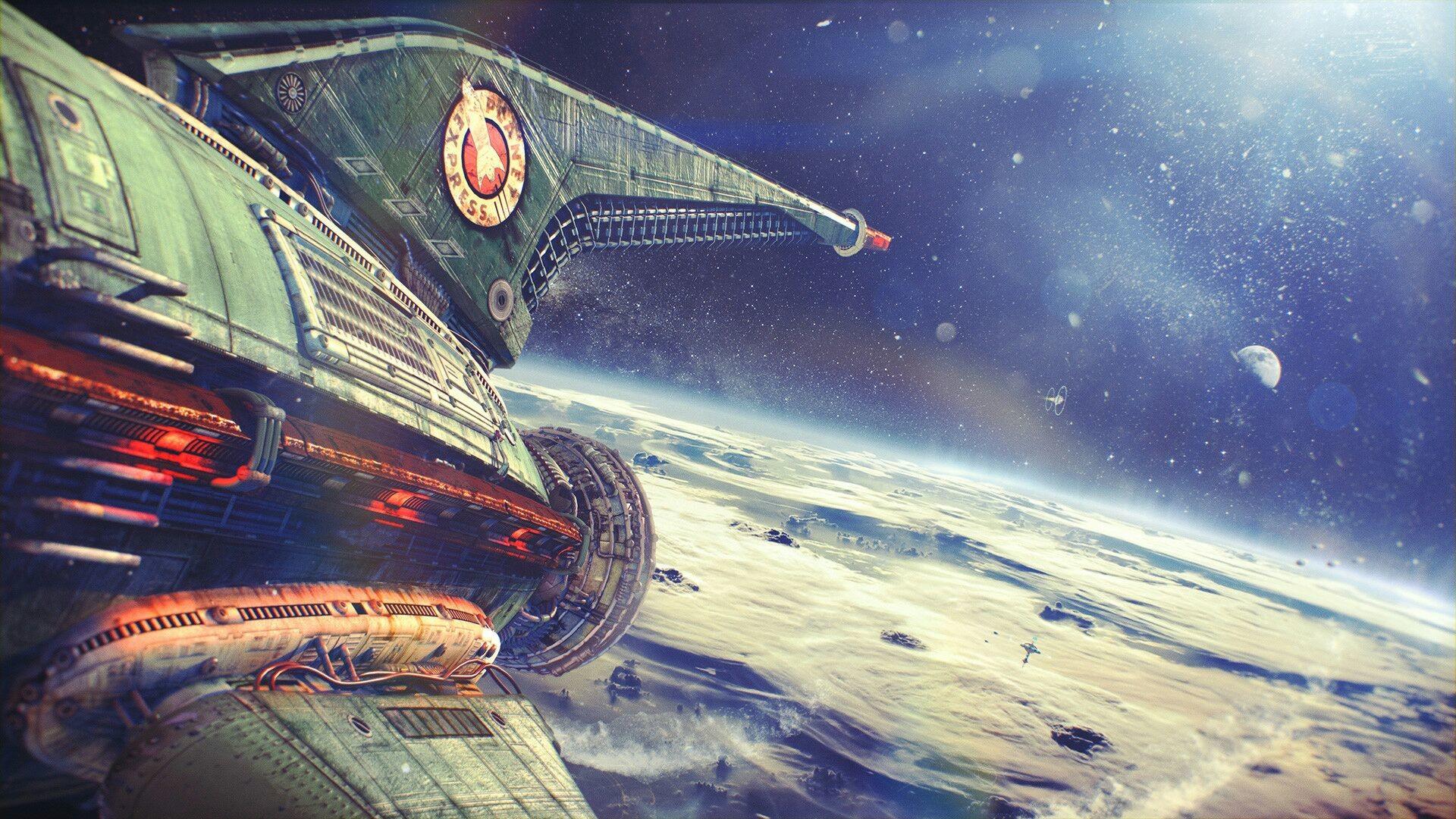 Real-Life Futurama Is Gorgeous – Planet Express Ship Leaving Earth (Alexey  Zakharov)