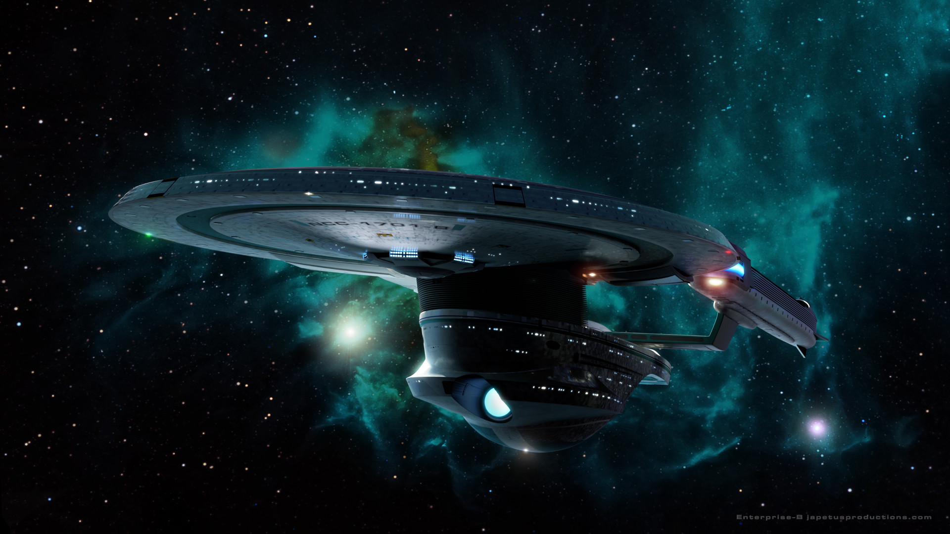 Star Trek Starship Enterprise Spaceship Stars Nebula wallpaper .