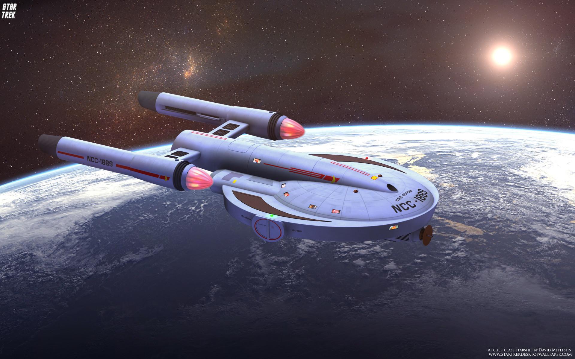 Star Trek Archer Class Starship, free Star Trek computer desktop .