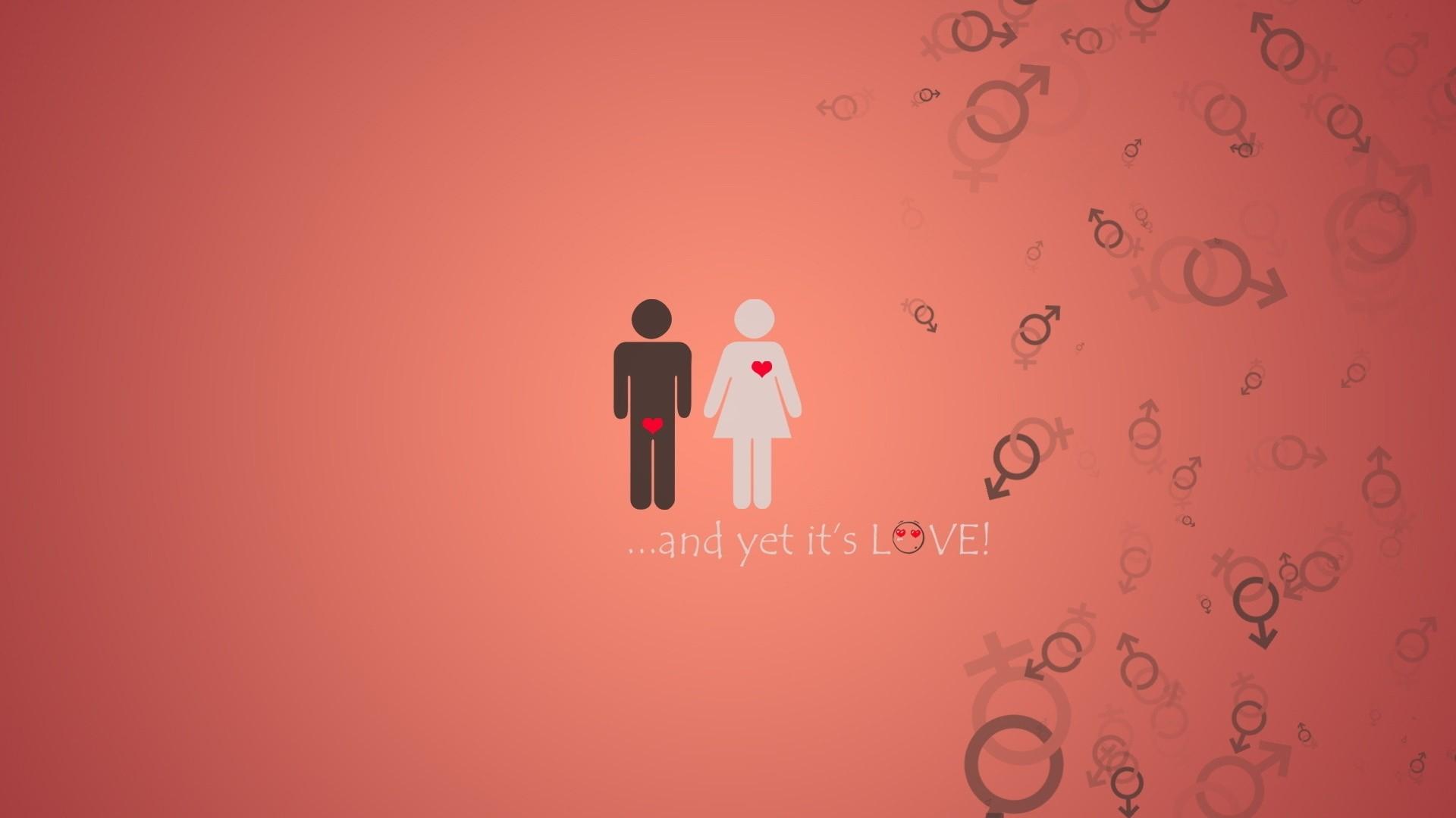 Wallpaper Love, He and she, Man, girl