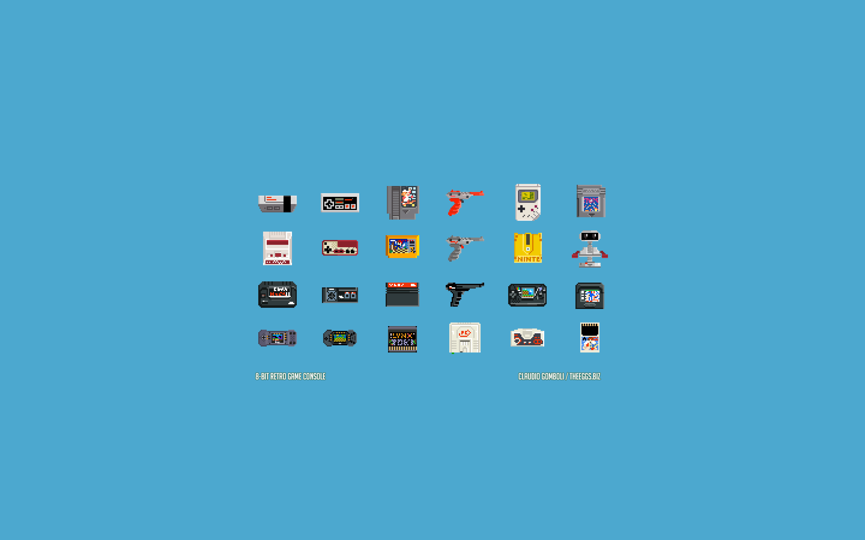 8-Bit Retro Game Console