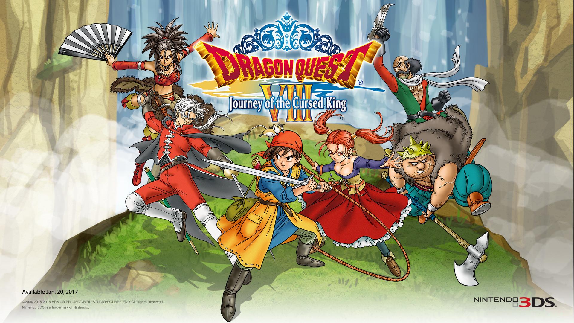 Dragon Quest VIII 3DS Nintendo Heroes Wallpaper …