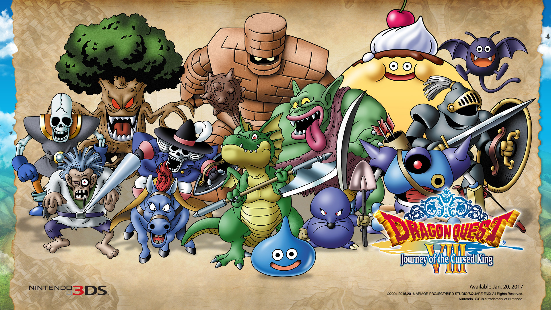 Dragon Quest VIII 3DS Nintendo Monsters Wallpaper …