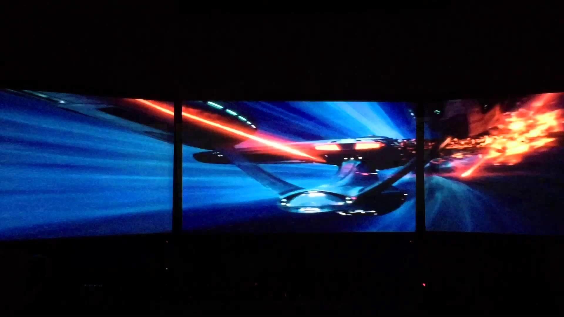 star trek movie clips eyefinity surround triple monitors