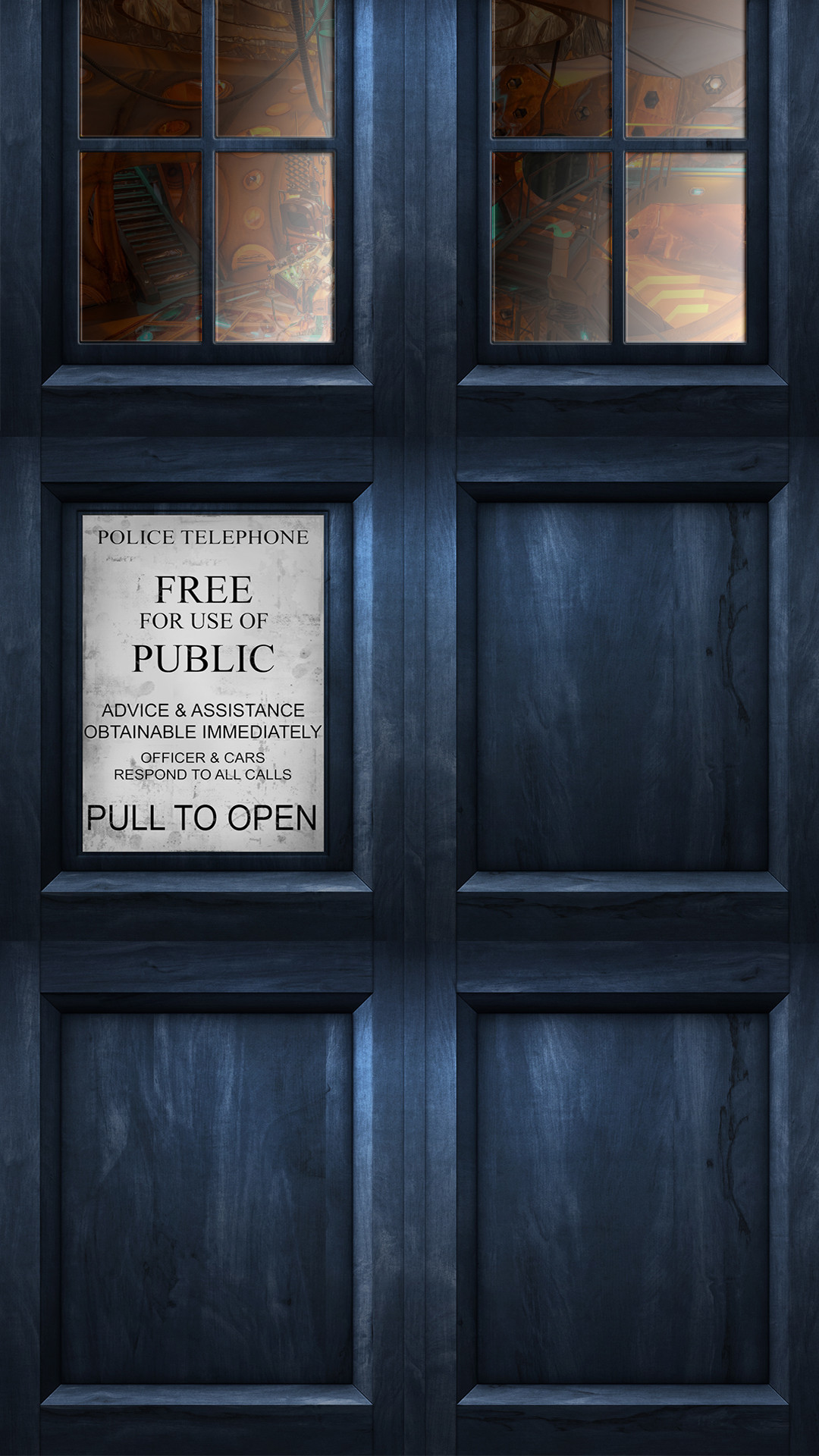 Made a Tardis HQ wallpaper for my phone.