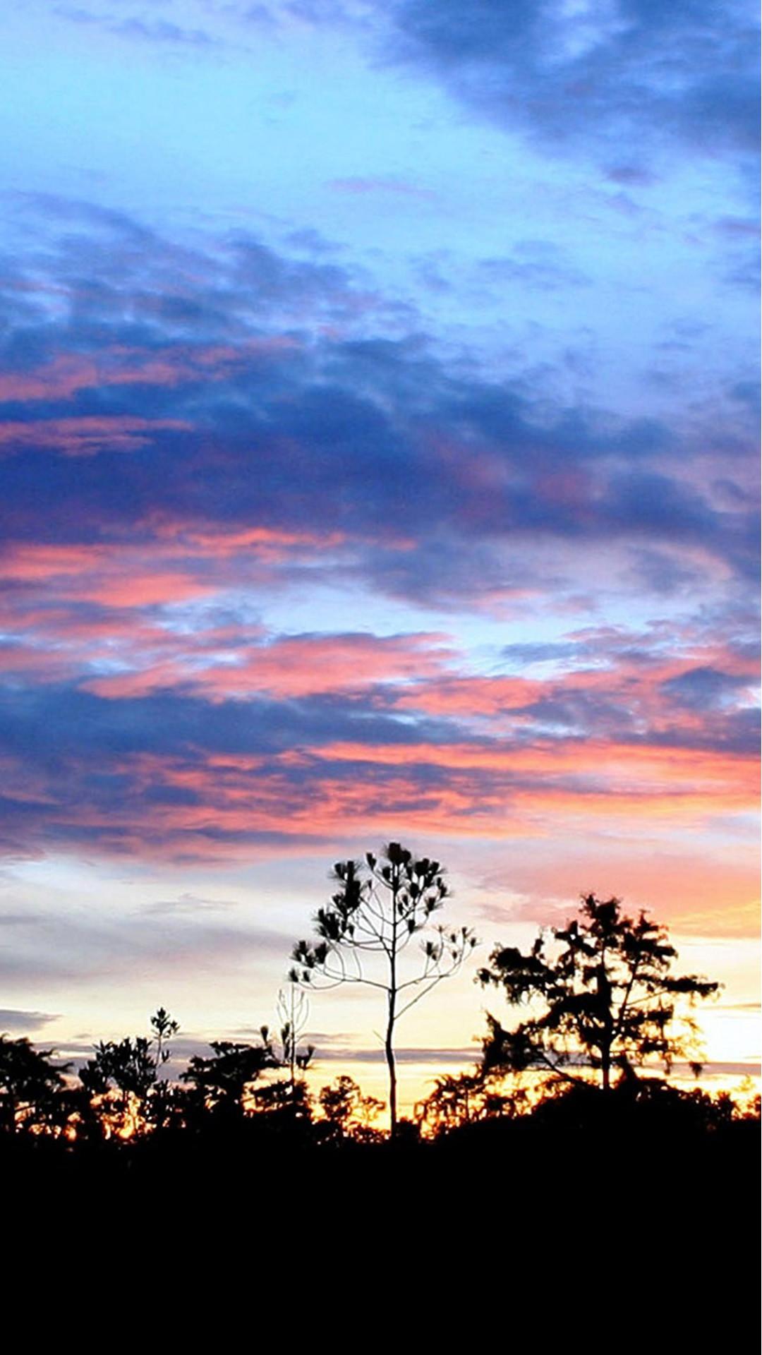 Stunning Sunset Landscape #iPhone #6 #plus #wallpaper
