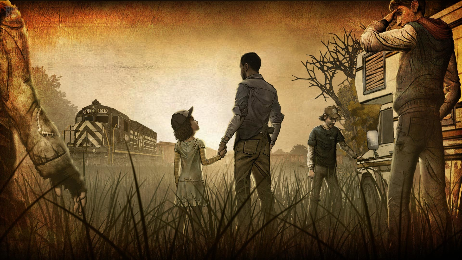 walking dead game wallpaper – happy with game