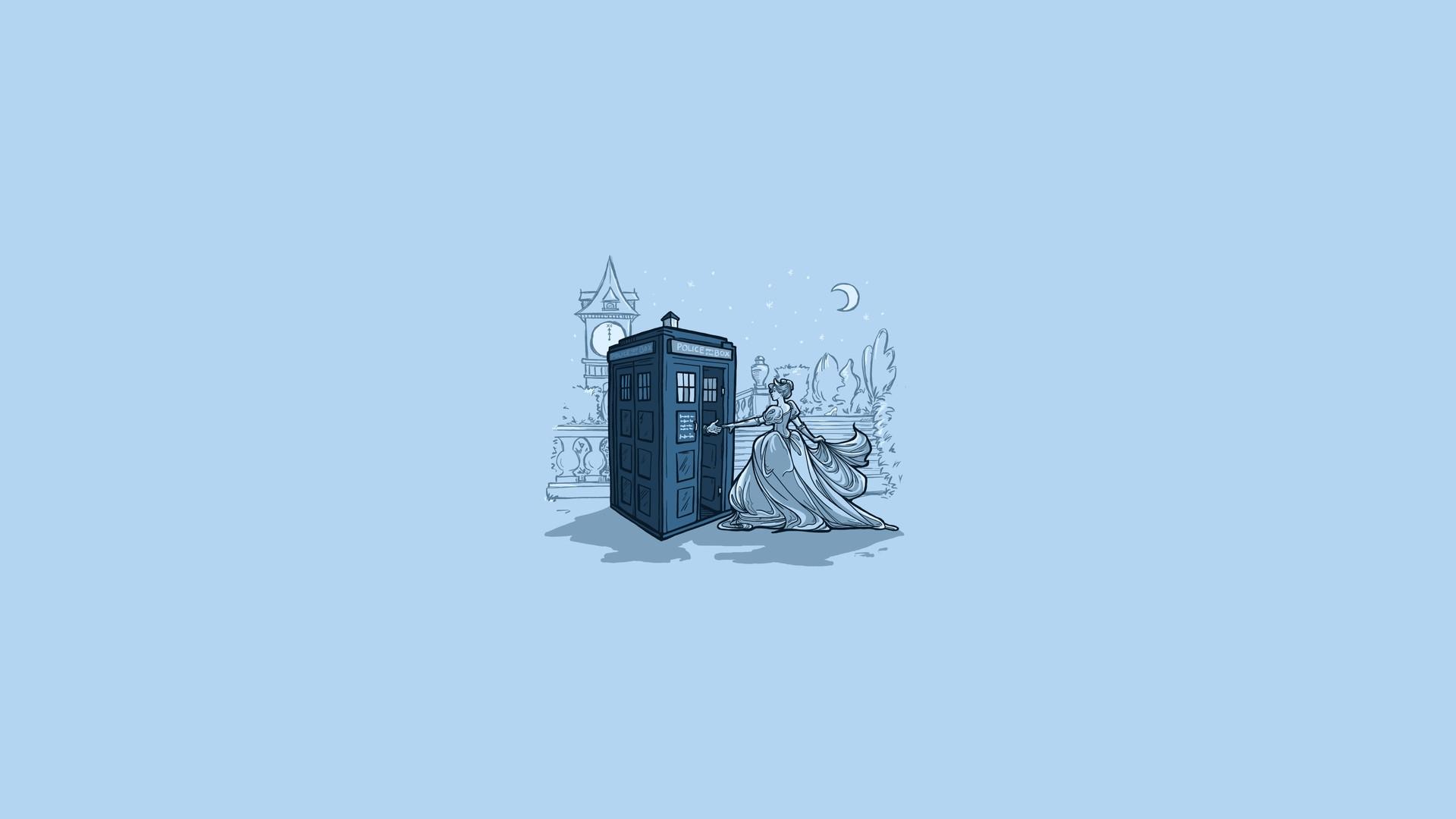 TARDIS Disney crossover HD Wallpaper 1920×1080