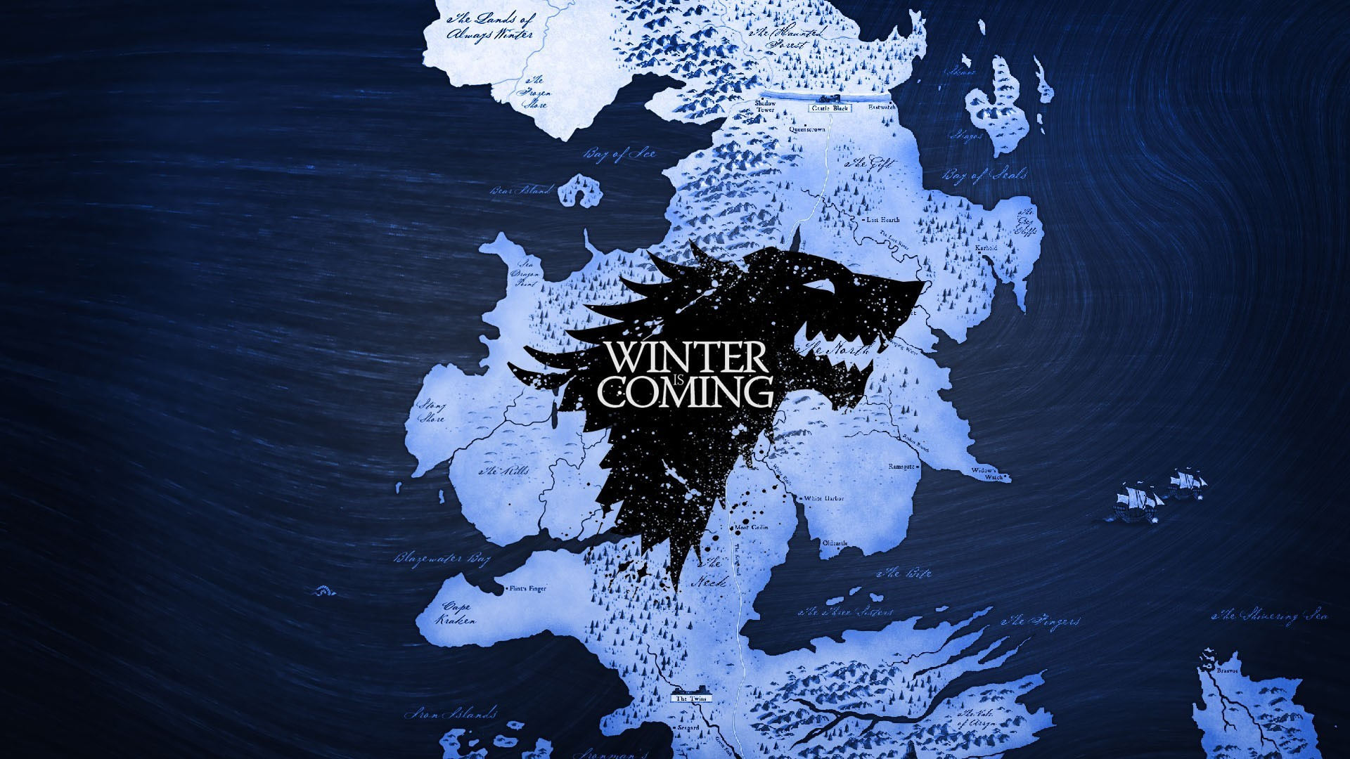 General Game of Thrones map Westeros Winterfell A Song of Ice and  Fire House Stark