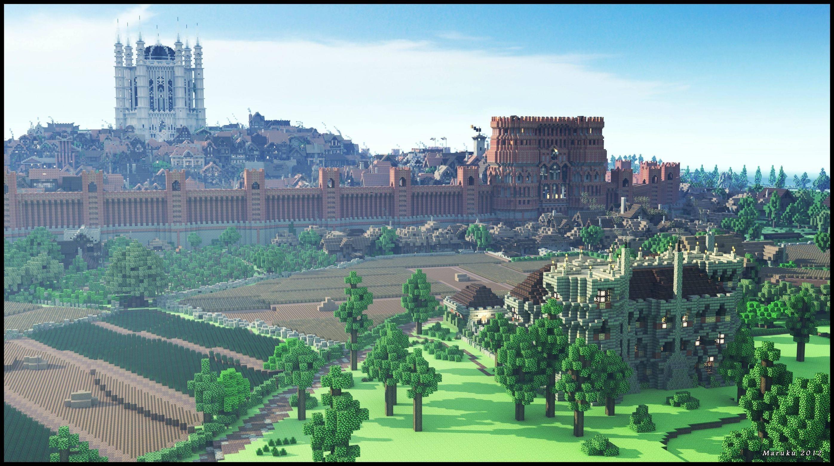 westeros · Minecraft cube map