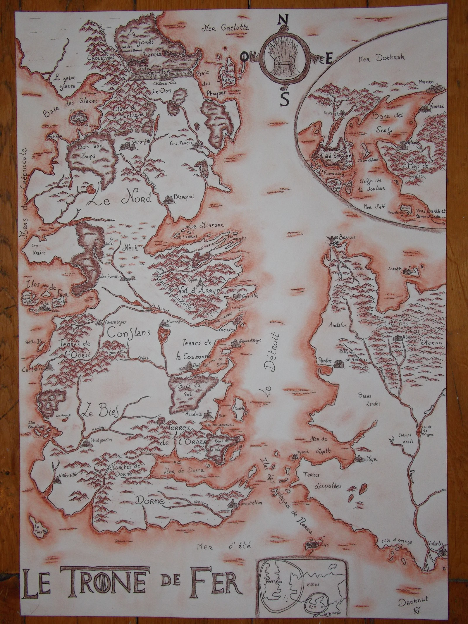 … Carte de Westeros et Essos (Game of Thrones) by Cartoria