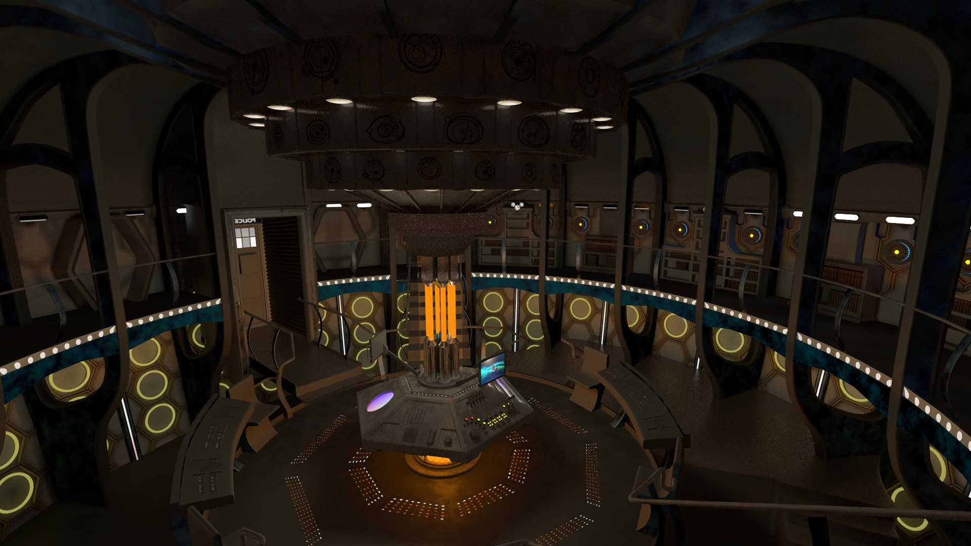 TARDIS console room – 2015 WIP by thy4205 on DeviantArt