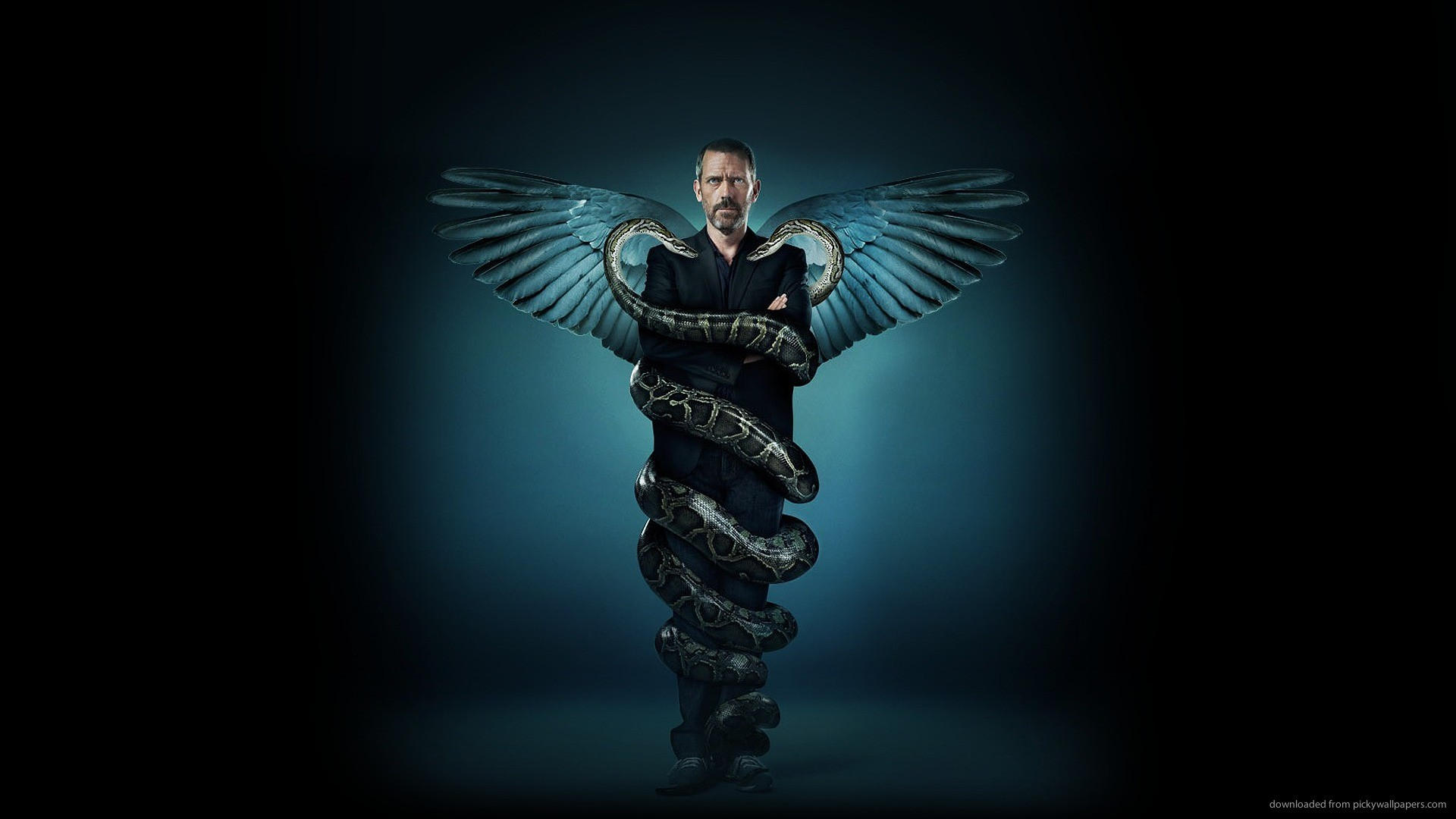 Hugh Laurie in real life Caduceus picture