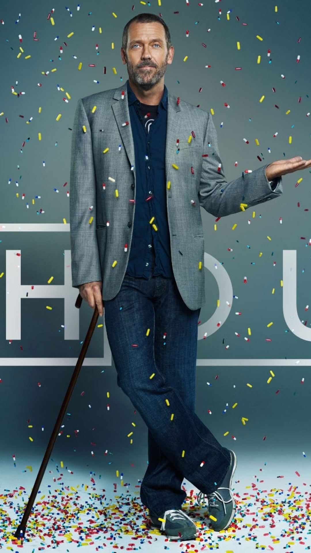 Wallpaper house md, doctor, tablets, hugh laurie, cane
